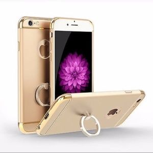 Other - iPhone 6/6S & PLUS ring stand cover gold