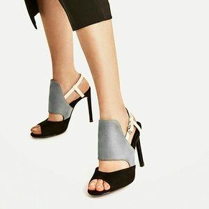🍀HOST PICK🍀Zara three-tone high heeled sandals
