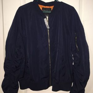 Forever 21 Plus Size navy bomber jacket