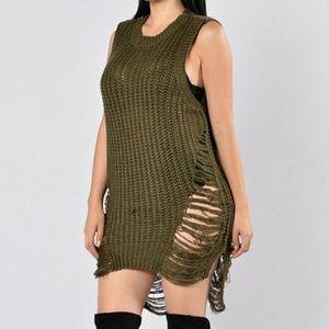Deconstructed Sleeveless Sweater