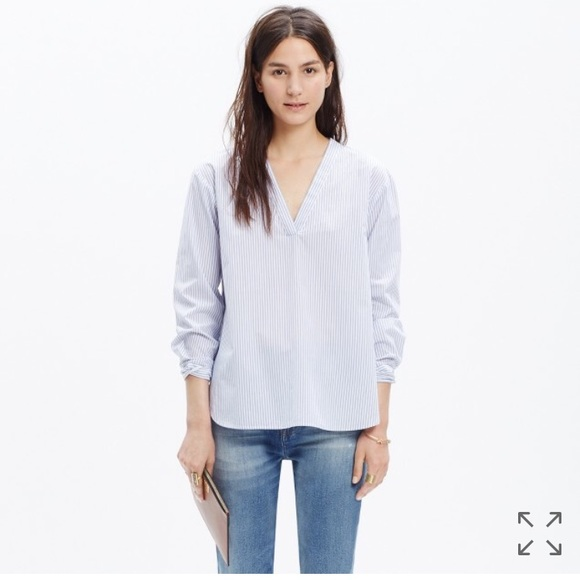 f9f29bea8d64c2 Madewell Tops - New Madewell Striped V Neck Shirt