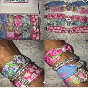 Lilly Pulitzer Set of 5 bracelet set