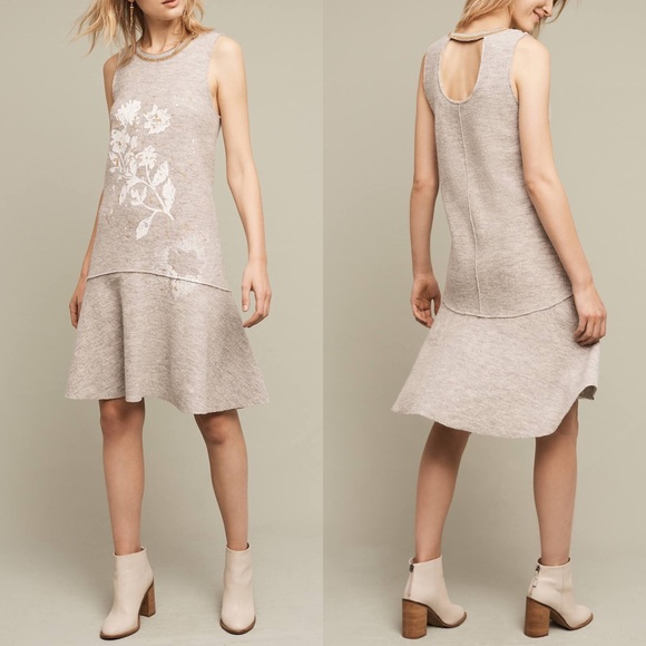 Anthropologie Dresses & Skirts - Anthropologie Boiled Wo Metallic Open Back Dress