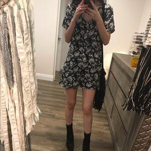 Forever 21 vintage floral dress romper shorts s