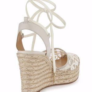 Michael Kors Shoes - MICHAEL KORS  WEDGE LACE MK LOGO SANDAL SHOES
