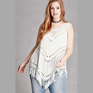 Forever 21 Tops - Crochet Fringed Top