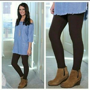 🌹 Dark Chocolate Brown Soft-As-Butter Leggings 🌹