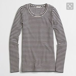 J Crew Striped Ribbed Tee