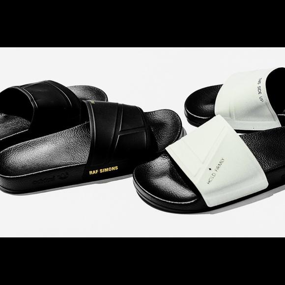 c859255b9683 Adidas x Raf Simons Adilette Bunny Slides Black