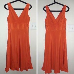J. Crew Dresses - J.CREW Orange Sophia Silk Bridesmaid Dress, sz 4