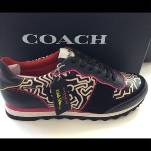 Sold Coach sneakers New In box Keith Haring art