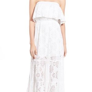 MICHAEL Kors boho White Eyelet Tiered DRESS SZ XL