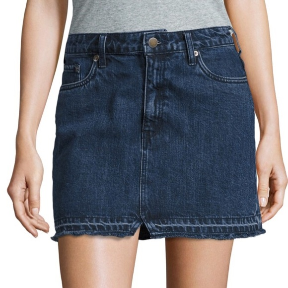093f02dbee2f9 FREE PEOPLE Step Up Dark Denim Mini Skirt NWT