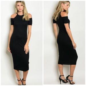 Dresses & Skirts - Black Midi Dress