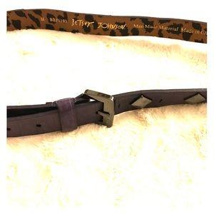 Betsy Johnson purple and dark silver belt