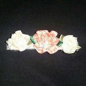 Peach & Ivory barrette