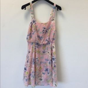 Lucca couture pink floral dress size small