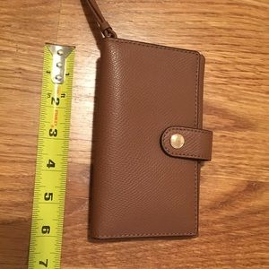 Coach Bags - NWT Coach Phone Wallet in Brown Pebble Leather