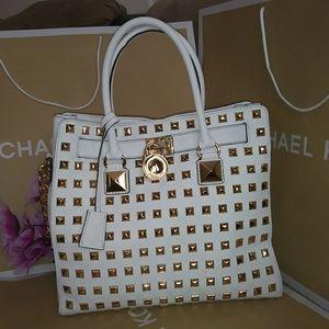 1c7fdddcffa8 Michael Kors Bags | Mk Studded Large Hamilton Tote Purse Bag | Poshmark