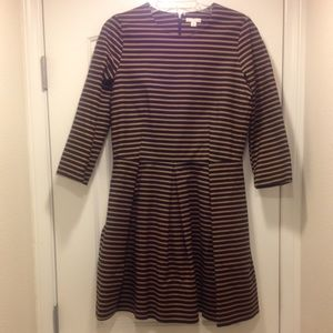NWOT Gap A lined striped dress w/ pockets