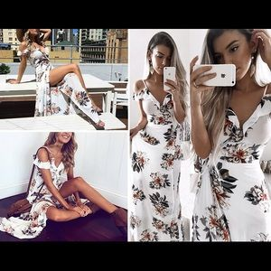 😍Fall in love floral maxi dress😍