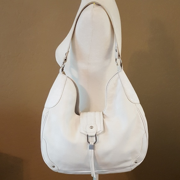 Coldwater Creek Handbags - Coldwater Creek White Leather Hobo Bag f67542af9e4c7