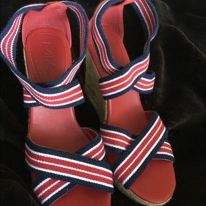 HP🎉TWO PAIR OF MIA🇺🇸Elastic Strapped Wedges