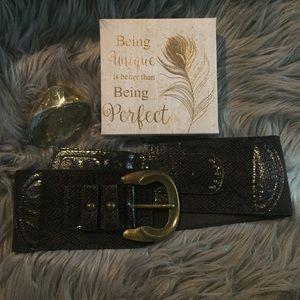 Accessories - Snake Print belt