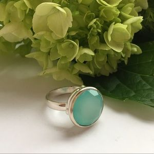 Jewelry - New 925 Sterling Silver Aqua Chalcedony Ring