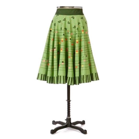 Anthropologie Skirts   Anthros Viola Strike A Chord Skirt   Poshmark