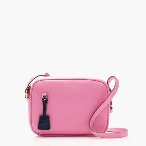 J. Crew Signet Crossbody Mini Bag in Fuchsia Bloom