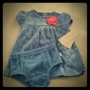 NWT Rosie Pope Baby Dress and Diaper Cover