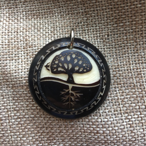 Jewelry carved tagua nut pendant tree roots bird natural poshmark carved tagua nut pendant tree roots bird natural aloadofball Gallery