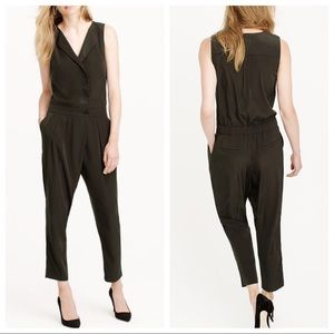 0e10bb0d8e78 J. Crew Pants - J.Crew Sleeveless Trench Jumpsuit in Olive Green
