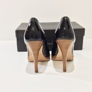 a66aee18186 Steve Madden Shoes - Steve Madden Lenore Black Patent Leather Pumps