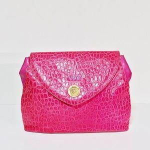 Vintage pink crocodile Versace medusa clutch
