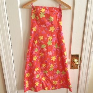 Classic Lilly Pulitzer strapless dress