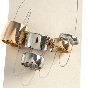 Jewelry - Bold Ring Band Set