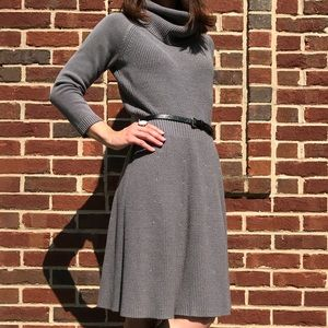 Cowl neck sweater dress (The Limited)