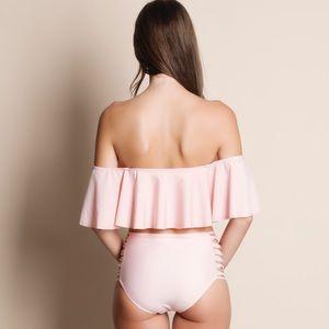 Aluna Levi Swim - NWT Aluna Levi Off Shoulder Ruffle Bikini