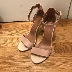 Blush Topshop Heeled sandals