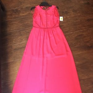 Stunning coral maxi nwt from dilliards!