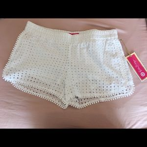 Lilly Pulitzer for Target white lace shorts