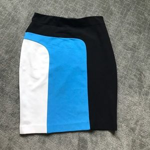 Ann Taylor color blocked skirt