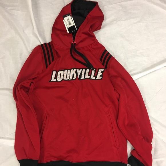 best loved ab589 21c28 Louisville Cardinals adidas Hoodie Sweatshirt