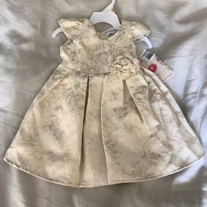 NWT Girls Gold special occasion dress