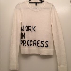 "Forever 21 ""work in progress"" sweater - NWOT"