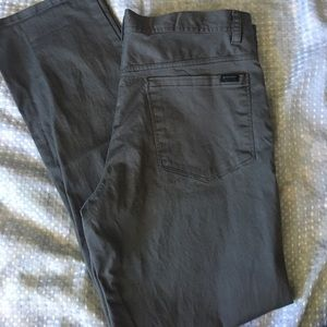 Men's Grey Perry Ellis Pants
