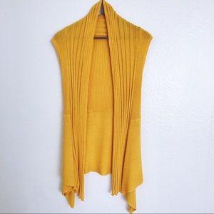 Jackets & Blazers - Yellow duster vest