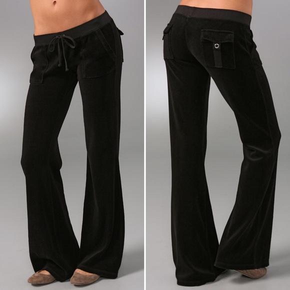 Juicy Couture Pants Jumpsuits 40 Snap Pocket Velour Pants Poshmark